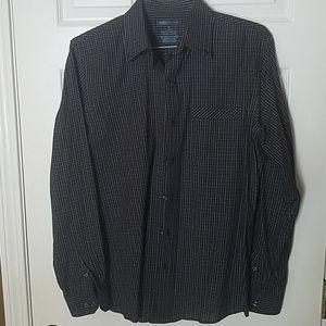 Van Heusen checkered black shirt